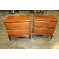 PAIR OF WALNUT ENDTABLES