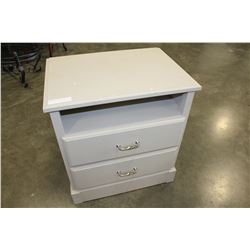 MODERN GREY 2-DRAWER ENDTABLE