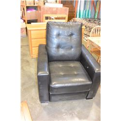 LEATHER RECLINER CHAIR, AS IS