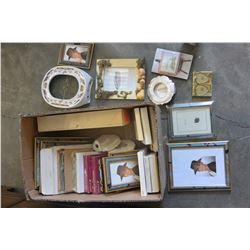 BOX OF NEW PICTURE FRAMES