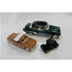 THREE DIE CAST COLLECTOR CARS