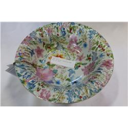 HAND DECORATED PORCELAIN BOWL MADE IN ITALY