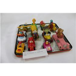 TRAY OF VINTAGE TV CHARACTER CARS