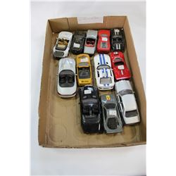 LOT OF SMALL DIE CAST RACING CARS