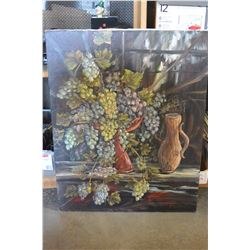 ORIGINAL PAINTING BY OTTO GEGODTKA SWEET GRAPES