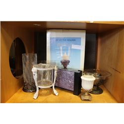 SHELF LOT OF NEW CANDLESTANDS