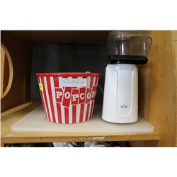 RIVAL POPCORN MAKER WITH POPCORN BOWL AND CUTTING BOARD