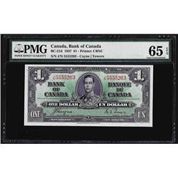 1937 $1 Bank of Canada Note PMG Gem Uncirculated 65EPQ