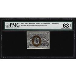 March 3, 1863 Ten Cents Second Issue Fractional Note PMG Choice Uncirculated 63E