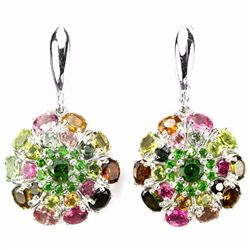 Natural Fancy Color Tourmaline 54 Carats Earrings