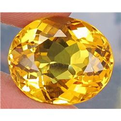 Natural Yellow Citrine 15.42 Carats - VVS