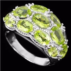 Natural Peridot Gemstone Ring