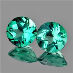 Natural Paraiba Green Apatite Pair 6.00 MM {VVS}