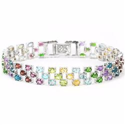 Natural Multi Gemstone 115 Carats Bracelet