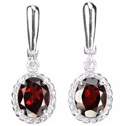 NATURAL DRAK ORANGE RED GARNET Earrings