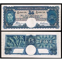 Australia, KGVI, Five Pounds, Sheehan/McFarlane, 1939 (R.45)