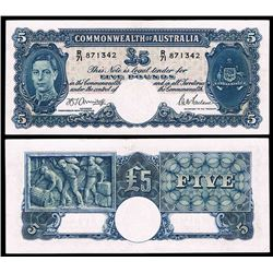 Australia, KGVI, Five Pounds, Armitage/McFarlane, 1942 (R.46)