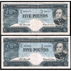 Australia, QEII, Five Pounds, Coombs/Wilson, 1954 (R.49)