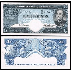 Australia, QEII, Five Pounds, Coombs/Wilson, 1960 (R.50)