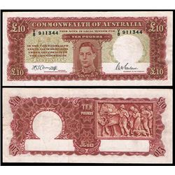 Australia, KGVI, Ten Pounds, Armitage/McFarlane, 1943 (R.59)