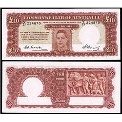 Australia, KGVI, Ten Pounds, Coombs/Watt, 1949 (R.60)