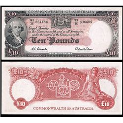 Australia, QEII, Ten Pounds, Coombs/Wilson, 1960 (R.63)