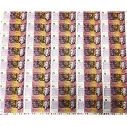 Australia, QEII, Five Dollars, Fraser/Higgins, 1990, Uncut Sheet