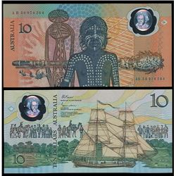 Australia, QEII, Ten Dollars, Johnston/Fraser, Bicentenary, 1988 (R.310b)