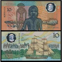 Australia, QEII, Ten Dollars, Johnston/Fraser, 1988 (R.310b)