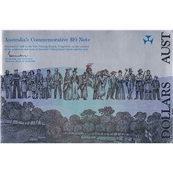 Australia, Ten Dollars, Johnston/Fraser, Bicentennial, Staff Folder, 1988