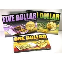 Australia, One - Five Dollars, Coin & Banknote Folders, 1982-91