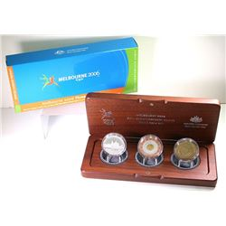 Australia, Proof Five - Fifty Dollars, Tri-Metal 3-Coin Set, Commonwealth Games, 2006