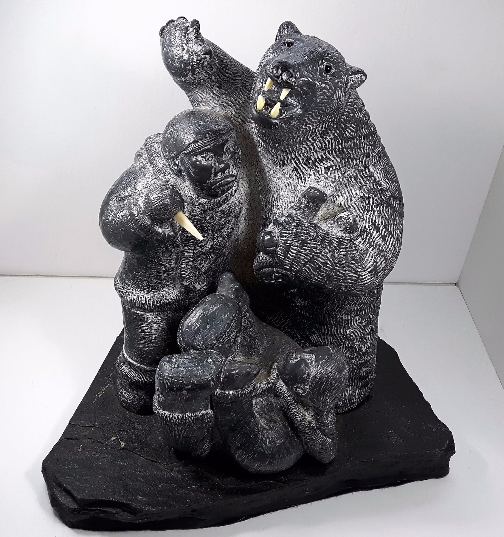 Wolf original inuit soapstone carving kastner auctions