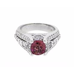 18KT White Gold 1.72ct Tourmaline and Diamond Ring