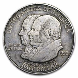 1923-S Monroe Doctrine Commemorative Silver Half Dollar Coin