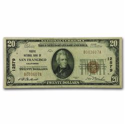 1929 $20 San Francisco Type 1 National Currency Note