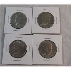 Lot of 4 Kennedy Half Dollars