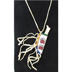 Native American Rawhide Knife Necklace