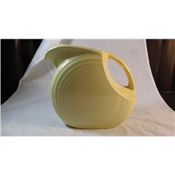 Vintage Fiestaware Large Disc Pitcher Light Yellow