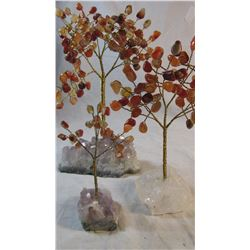 Lot of 3 Carnelian Trees