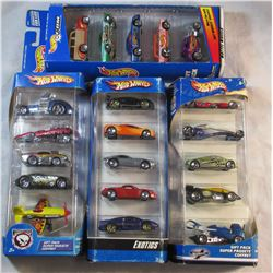 Lot of 4 Sets of HotWheels New In Box