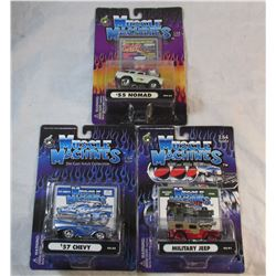 Lot of 3 Muscle Machines Die Cast Cars in Original Packages