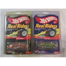 Set of Two Red Lines HotWheels in Protective Cases