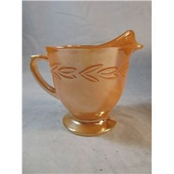 Vintage Fireking Iridescent Orange Creamer