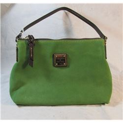 Dooney & Bourke Pouchette Handbag Green Suede
