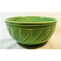 Antique McCoy Unmarked Green Mixing Bowl