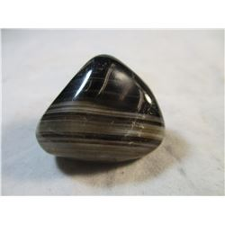 Polished Black Agate