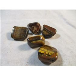 5 Pieces of Tumbled Tiger Eye