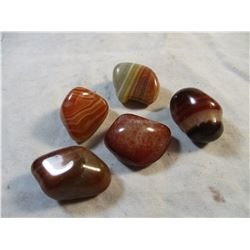 5 Pieces of Tumbled Carnelian