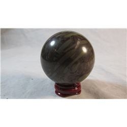 Bamboo Jasper Sphere and Stand